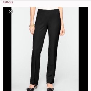 Talbots petite cropped side zip trousers